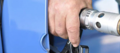 Hand on Gas Pump