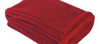 Red plush blanket